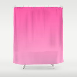 Bright pink neon gradient, Ombre. Shower Curtain