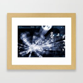 Daydreams Like Mainframes 007: Biodustrial Framed Art Print