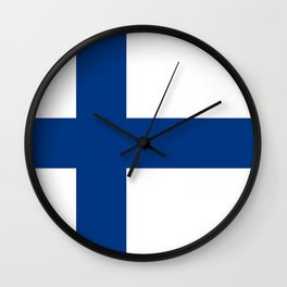 Flag of Finland - High Quality Image Wall Clock