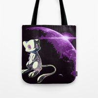mew Tote Bags featuring Mew  by Cat Milchard