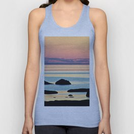 Circle of Rocks and the Sea at Dusk Unisex Tank Top