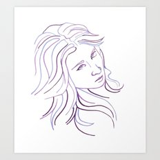 Purple Portrait Art Print