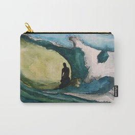 Watercolor Surfer Carry-All Pouch