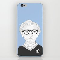 woody allen iPhone & iPod Skins featuring WOODY ALLEN by armantas