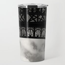 Black Lace of Eiffel Tower Travel Mug