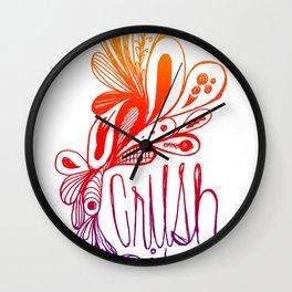 White Gradient Wall Clock