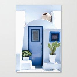 Doors of Santorini Canvas Print