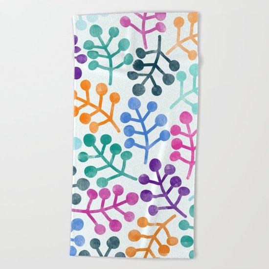 Flower Pattern IV Beach Towel