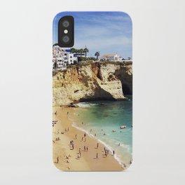 Praia de Carvoeiro, Algarve, Portugal - Deep blue waters iPhone Case