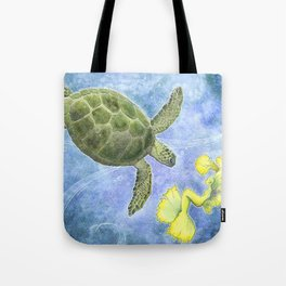 The Sea Turtle and Sea Nymph Tote Bag