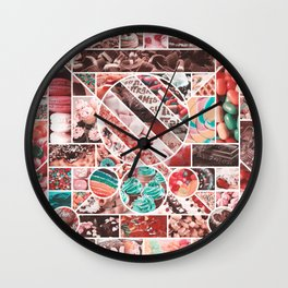 Sweet Treats Collage Wall Clock
