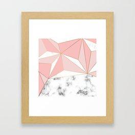 Marble & Geometry 042 Framed Art Print