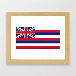 Flag of Hawaii, High Quality image Framed Art Print