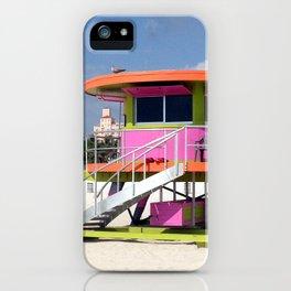Life Guard Station - Sound Beach, Miami iPhone Case