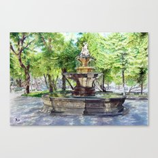 Old Fountain at Split, Croatia Canvas Print