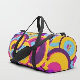 Retro Circles Groovy Colors Duffle Bag