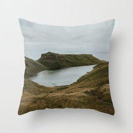 Skye Lake - Landscape Photography Throw Pillow
