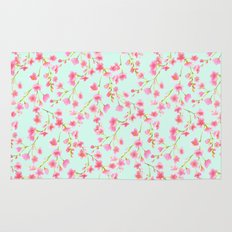 Cherry Blossom Pink Mint (for Mackenzie) Rug