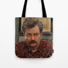 Ron Swanson, Nick Offerman, Parks and recreation Tote Bag