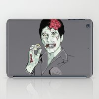 scarface iPad Cases featuring Zombie Al Pacino Scarface  by Jane Hazlewood