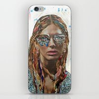jessica lange iPhone & iPod Skins featuring Jessica by Katy Hirschfeld