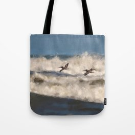 Between The Waves Tote Bag