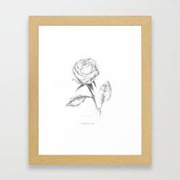 Stippled rose Framed Art Print