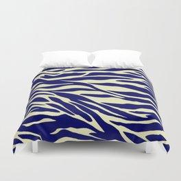 blue zebra Duvet Cover