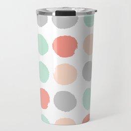 Painted minimal dots trendy gender neutral bright happy color palette nursery art Travel Mug