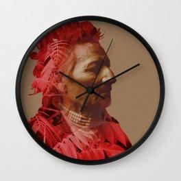 Walla Walla American Indian & Red Sumac Wall Clock