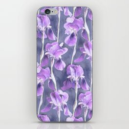 Simple Iris Pattern in Pastel Purple iPhone Skin