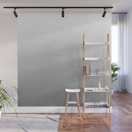 White to gray ombre flames Wall Mural