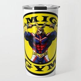 Allmight Boku No Hero My Hero Academia Golds gym Travel Mug