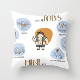 Minijobs (Spanish version) Throw Pillow