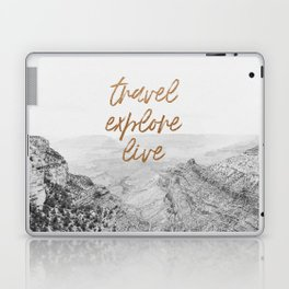 TRAVEL, EXPLORE, LIVE Laptop & iPad Skin