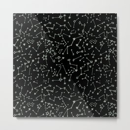 Hearts & Symbols Constellations Metal Print