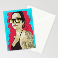 Tattoo flowers Stationery Cards