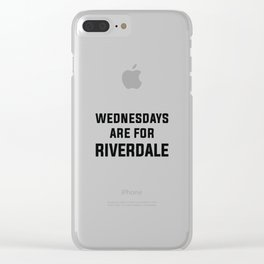 Wednesdays Are for Riverdale Clear iPhone Case