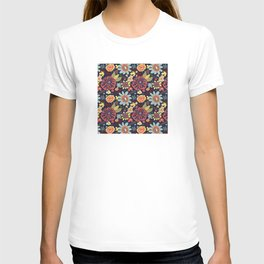 Playful Flowers with Red Leaves T-shirt