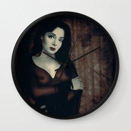 Morticia Uncensored Wall Clock