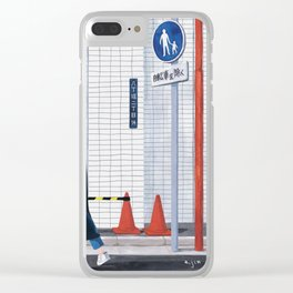 Unfamiliar palce, Unfamiliar time_ver2 Clear iPhone Case