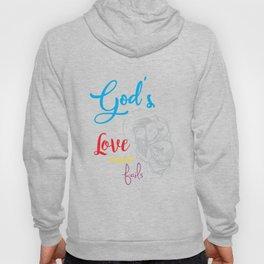 God's love bible jesus loves god religion crusader Mission Sign Hoody