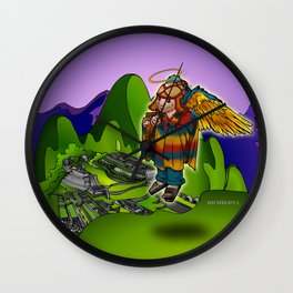 Angel de Machu Picchu Wall Clock