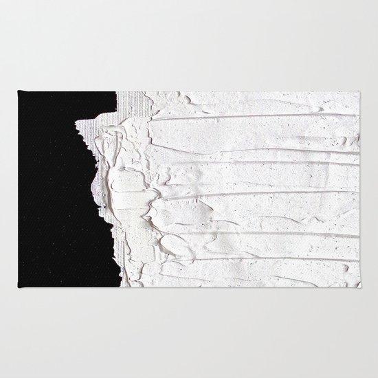 Black, White & White Rug
