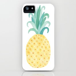 Cheerful Pineapple Art iPhone Case