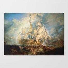 "J.M.W. Turner ""The Battle of Trafalgar"" Canvas Print"