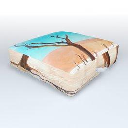 deadvlei desert trees acrstd Outdoor Floor Cushion