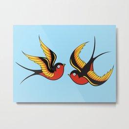 Swallows Metal Print