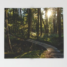 North Shore Trails in the Woods Throw Blanket