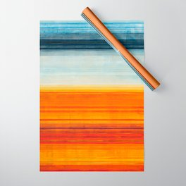Yellowstone Orange Wrapping Paper